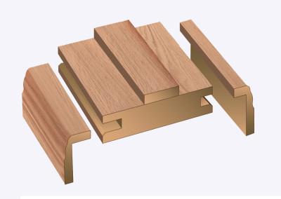 Adj door frame oak