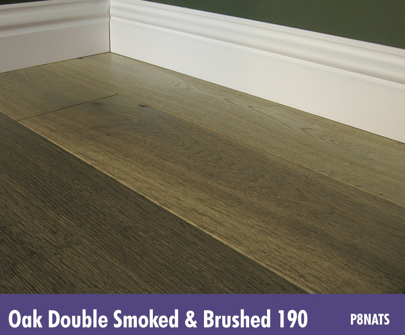 Solid Oak Double Smoked Brushed 190