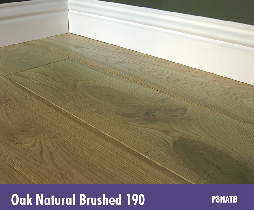 Solid Oak Natural Brushed 190
