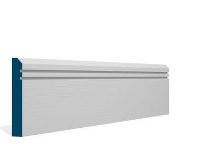 19 x 119mm Pre-Primed / Pre-Painted Wood Bevelled Double Shaker Skirting (5×2.4m)