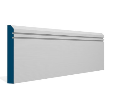 19 x 144mm Pre-Primed / Pre-Painted Wood Bevelled Double Shaker Skirting (5×2.4m)