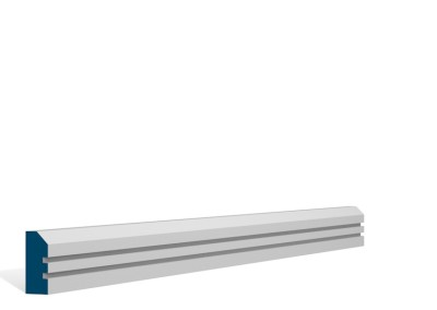 19 x 44mm Pre-Primed / Pre-Painted Wood Bevelled Double Shaker Architrave (5×2.25m)