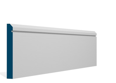 19 x 144mm Pre-Primed / Pre-Painted Wood Bevelled Single Shaker Skirting (5×2.4m)