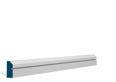 19 x 44mm Pre-Primed / Pre-Painted Wood Bevelled Single Shaker Architrave (5×2.25m)