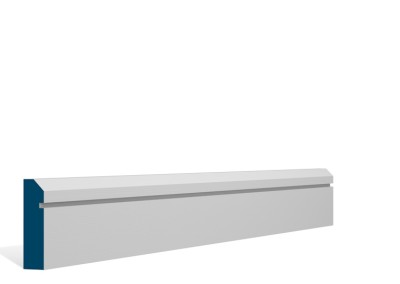 19 x 69mm Pre-Primed / Pre-Painted Wood Bevelled Single Shaker Architrave or Skirting (5×2.25m)