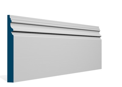 19 x 169mm Pre-Primed / Pre-Painted Wood Brackley Skirting (5×2.4m)