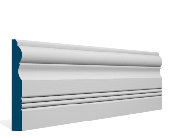 19 x 144mm Pre-Primed / Pre-Painted Wood Braden Skirting (5×2.4m)