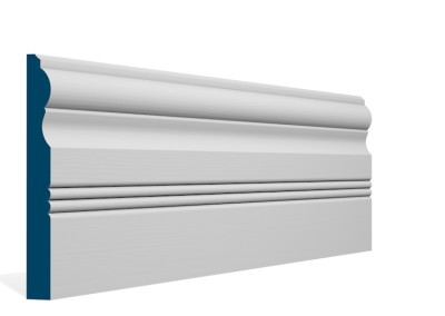 19 x 169mm Pre-Primed / Pre-Painted Wood Braden Skirting (5×2.4m)