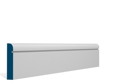 19 x 94mm Pre-Primed / Pre-Painted Wood Bullnose Shaker Architrave or Skirting (5×2.25m)
