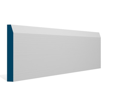 19 x 144mm Pre-Primed / Pre-Painted Wood Chamfered Skirting (5×2.4m)