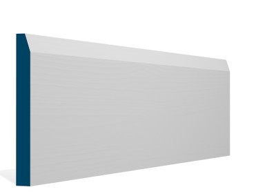 19 x 169mm Pre-Primed / Pre-Painted Wood Chamfered Skirting (5×2.4m)