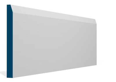 19 x 194mm Pre-Primed / Pre-Painted Wood Chamfered Skirting (5×2.4m)