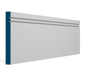 19 x 169mm Pre-Primed / Pre-Painted Wood Double Shaker Skirting (5×2.4m)