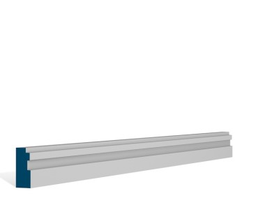 19 x 44mm Pre-Primed / Pre-Painted Wood Double Step Architrave (5×2.25m)