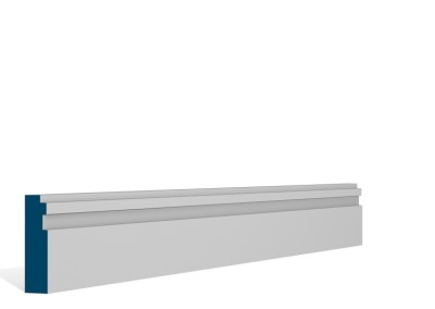 19 x 69mm Pre-Primed / Pre-Painted Wood Double Step Architrave or Skirting (5×2.25m)