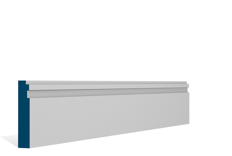 19 x 94mm Pre-Primed / Pre-Painted Wood Double Step Architrave or Skirting (5×2.25m)