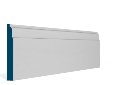 19 x 144mm Pre-Primed / Pre-Painted Wood Lambs Tongue Skirting (5×2.4m)