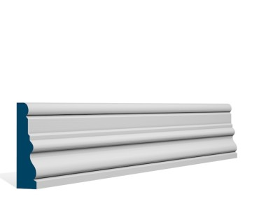 25 x 94mm Pre-Primed / Pre-Painted Wood Laurel Architrave or Skirting (5×2.4m)