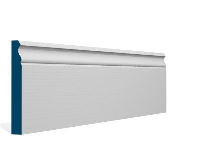 19 x 144mm Pre-Primed / Pre-Painted Wood Ogee Skirting (5×2.4m)