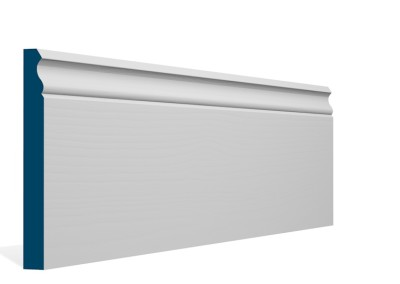 19 x 169mm Pre-Primed / Pre-Painted Wood Ogee Skirting (5×2.4m)