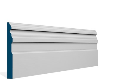 19 x 169mm Pre-Primed / Pre-Painted Wood Owel Skirting (5×2.4m)