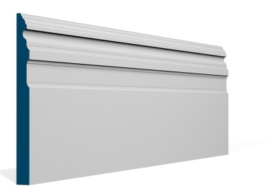 19 x 219mm Pre-Primed / Pre-Painted Wood Owel Skirting (5×2.4m)