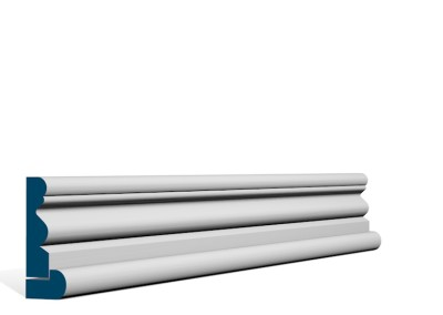19 x 69mm Pre-Primed / Pre-Painted Wood Portmore Architrave, inc. Hockey Stick (5×2.25m)
