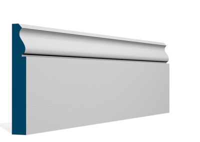25 x 169mm Pre-Primed/Pre-Painted Wood Rushen Skirting (5×2.4m)