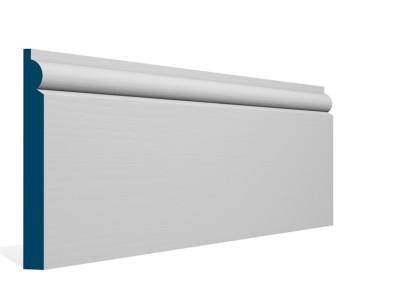 19 x 169mm Pre-Primed / Pre-Painted Wood Torus Skirting (5×2.4m)