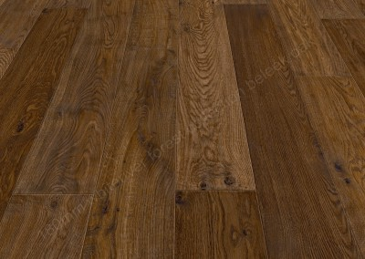 180mm Forest Beleek Oak Handscraped, Smoked, Natural Oiled & Polished
