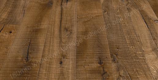 180mm Vintage Oak Florence Smoked, Band Sawn, Knots Deep Brushed & Sanded, Nat. Oiled