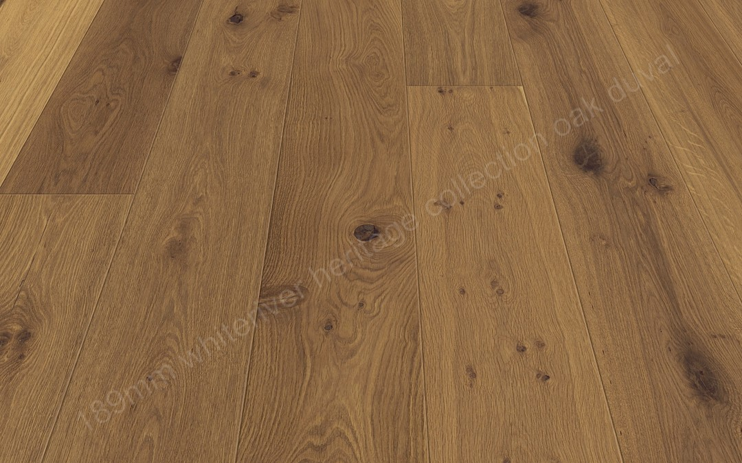 189mm Heritage Oak Duval Smoked, Brushed & Natural Oil Wax