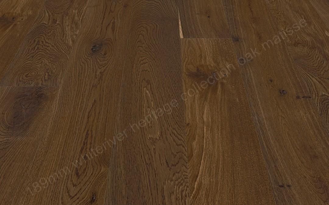 189mm Heritage Oak Matisse Double Smoked, Brushed & Matt Varnished