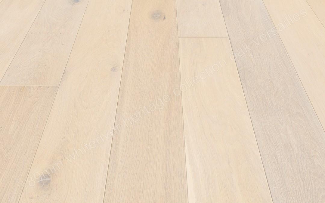 189mm Heritage Oak Versailles White Hard Wax Oiled