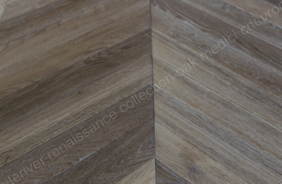Renaissance Chevron Oak Medici Smoked, White Oil Wax