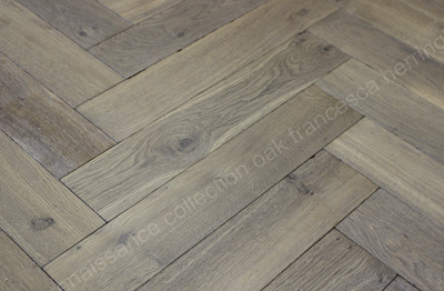 Renaissance Herringbone Oak Francesca Smoked, Distressed, White Oil Wax