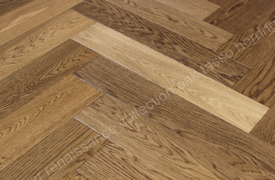 Renaissance Herringbone Oak Tasso Smoked, Light Brushed, Natural Oil Wax